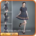 nova moda de verão de manga curta polka dot dress