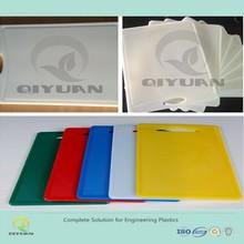 Custom plastic cutting board/White color thickness PE cutting board/UHMWPE plastic kitchen cutting board