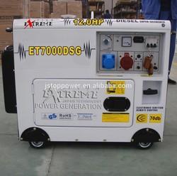 NEW TYPE!!! 188F diesel engine with handle 6KW silent diesel generator