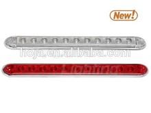 16 inch Slim-Line LED Indicator Bar w/ Reflex Lens and Chrome Trim Bezel 12v light bar