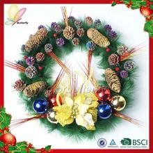 2015 high quality plastic wreath christmas wreath new design door wreath hanger