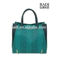 Women Bag guangzhou exporters suppliers 2015 hot selling snake pattern hand bag women bags