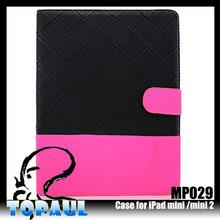 2015 new for apple ipad mini3 stand leather case, case for ipad mini3