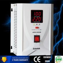 Latest Design Home Use Input 100 to 260V Output 220V 8% 500va Stabilizer
