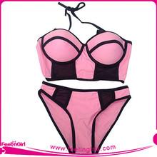 Lover-beauty two pcs strapped usa bikini swimwears whole