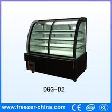 China hot sale sliding glass door cake chiller display case