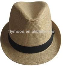 Paper Straw Fedora Hat