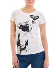 2015 new style women bulk sublimation white t-shirt
