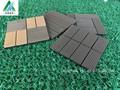Incastro tessere piattaforma esterna, giardino pavimenti in legno massello di teak con base in plastica