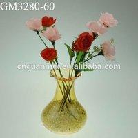 Wholesale cheap flower clear glass vase