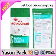 Yason ldpe natural poly bag wave top die cut bag bag with spout