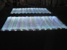 LED lighting fiber optical fabric modern fabric corner sofa with RGB changeable colors free shipping