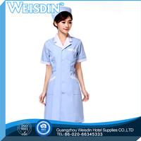 Anti-bacterial women's/man's poplin white lady nursing uniforms