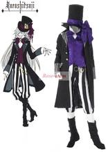 Rose team-Black Butler2 Kuroshitsuji Grim Reapers Undertaker Suit Anime Sexy Halloween Carnival Costume
