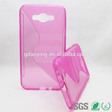 Red 5 inch mobile phone back cover for Samsung Galaxy E7 E700 E700F
