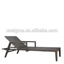 2015 Hot sale aluminum rattan lounger for garden outdoor furniture
