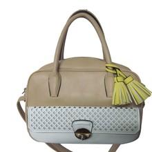 Trendy Lady Satchel Style PU Leather Convertible Cross-Body Professional Designer Handbag
