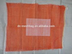 (45x75 red & orange) vegetable mesh bag 30kg