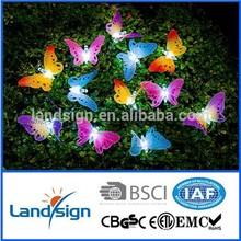 XLTD-118 Cixi Landsign Led Lights Series LED Solar Butterfly String Light Kit - Fibre Optic