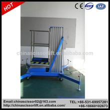 Electric Aluminum Single Mast Aerial Work lift, Personal Lift