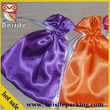 fancy reusable christmas gift satin bags ideas
