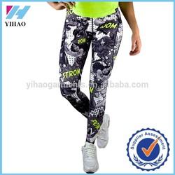 Yihao trade assurance Wholessle New fashion gym women's sportswear legging Custom women fashion compression pants running wholes