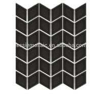 JS irregular shape black cube and rhombic 3d ceramic mosaic tile
