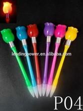 china novelty / LED pen with led light / rose P04