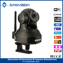 2015 Hot!! ESCAM QF100 720P pan tilt Robot ip camera support TF card home automation security system