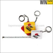 1M Cheap Price Mini Tape Measure Promotional Gift Keyring Square