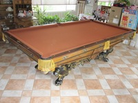 Classical American Style Antique Pool Table Carving Wooden Pool Table (BG520177)