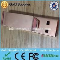 Rose Gold colored metal usb flash pen memory sticks drives