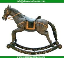 Alibaba Italia bronze horse and warrior statue