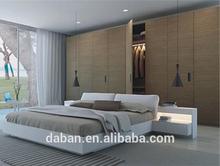 Jisheng furniture good delivery time MDF board bed wardrobe /wardrobe hanger bar