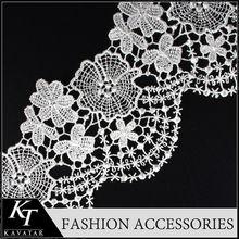 Haute qualité brillant dentelle crochet motif pour femmes robes