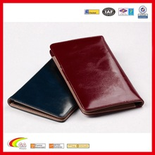2015 New Arrival RFID Signal Block Passport Cover With Fashion Leather, Leather Wallet Passport Cover ID Holder