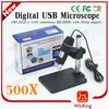2 Mega pixels portable 500x digital microscope 500x magnification usb microscope camera optical zoom