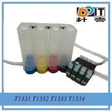 Not show ink level ciss refill kits for Epson t1381 t1404 with ARC chip