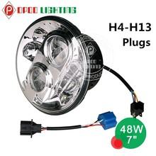 Best Price harley led headlight, 7inch 40W round harley led headlight