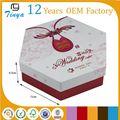 Divertido imagen pastel de bodas para ir cajas para los huéspedes