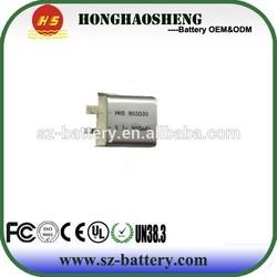 Rechargeable best price li-polymer battery 903035 3.7v 900mah for Telecommunications battery
