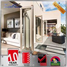 Australian standard heat insulation aluminium glass basement double doors