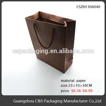 High-End Handmade brown gift packaging craft paper bag