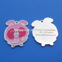 Pink Bird shaped jewelry pendant tags laser custom logo