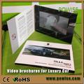 4.3 pulgadas lcd pantallas de la tarjeta de vídeo para el coche de lujo promo/digital tarjetas de video/folleto de vídeo de pantalla lcd reproductor de soporte de fábrica