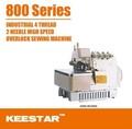 Keestar 800 serie industrial overlock costura de prendas de vestir precio de la máquina