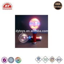led flashing light up pumkin spin ball toy