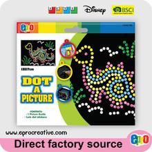 EPRO CA9279E kids diy craft kit, dinosaur design dot a picture art