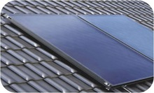 Flat plate panel solar collector