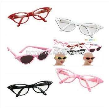 Retrò 50s/60s gatti occhio occhiali diamante/occhiali da sole bnwt uv400 vtg grasso occhiali